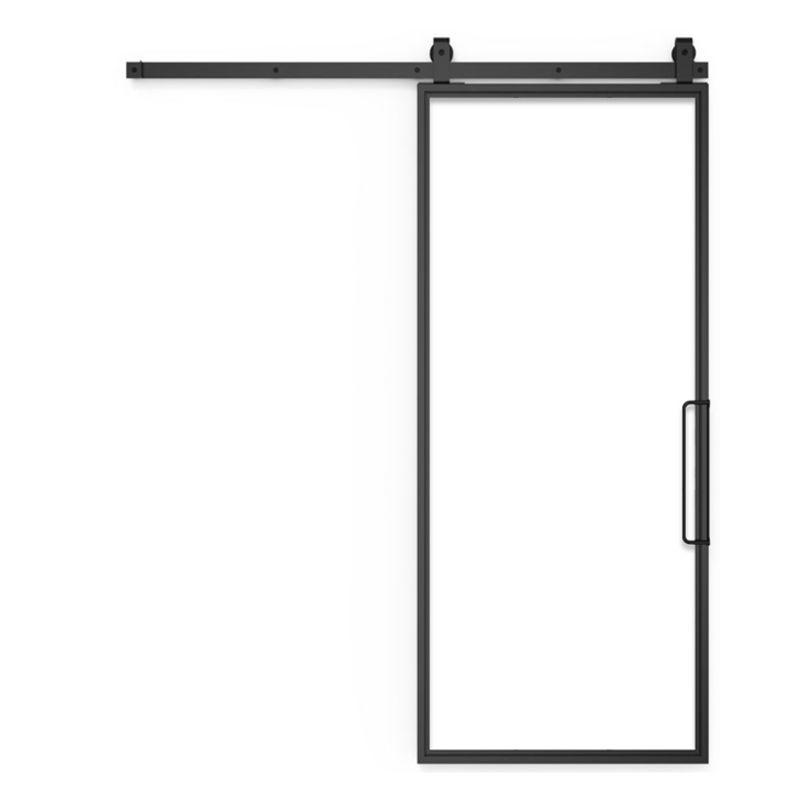 Single Panel Glass Barn Door