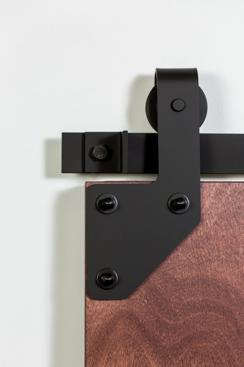 417 Cornered Barn Door Hardware