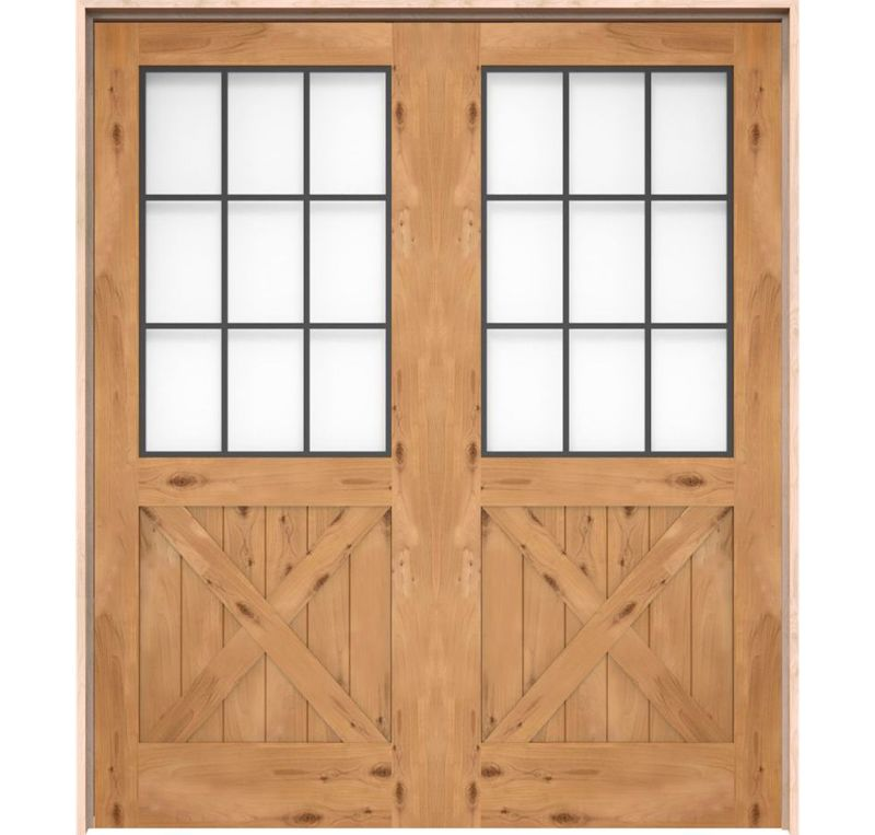 Farmhouse French Half X Interior Double Door