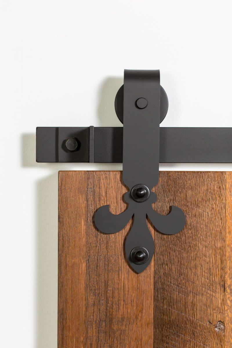 419 Fleur-De-Lis-Barn-Door-Hardware