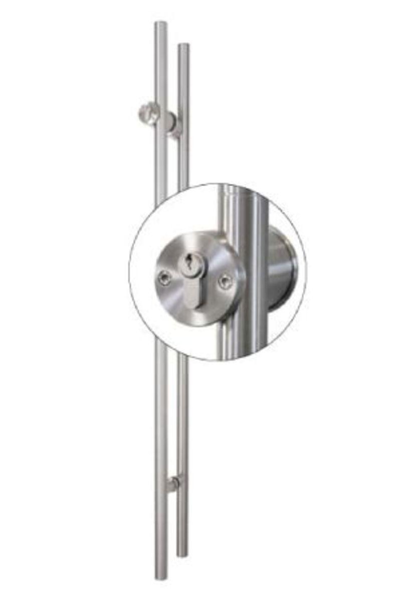 TG.1150.PZ Stiletto Locking Pair Barn Door Handle