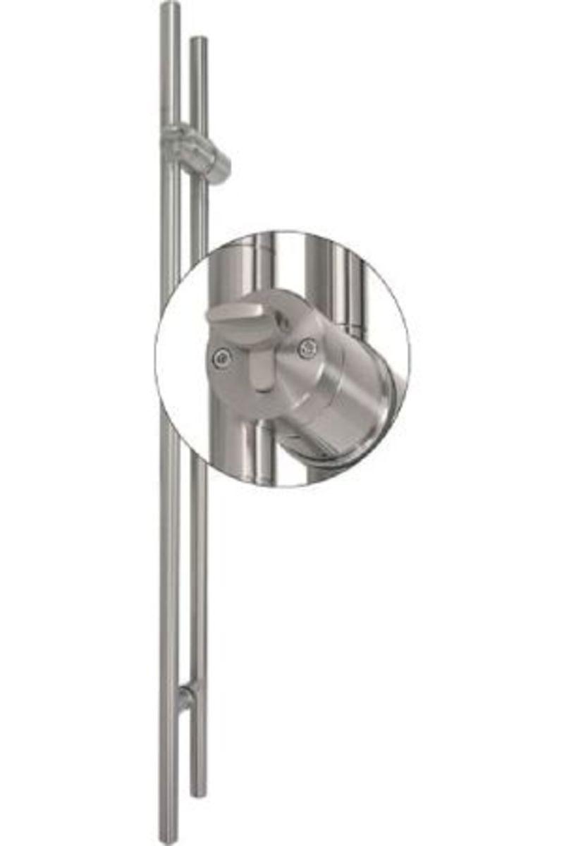 TG.1150.PZ.WC Stiletto Locking Pair Barn Door Handle