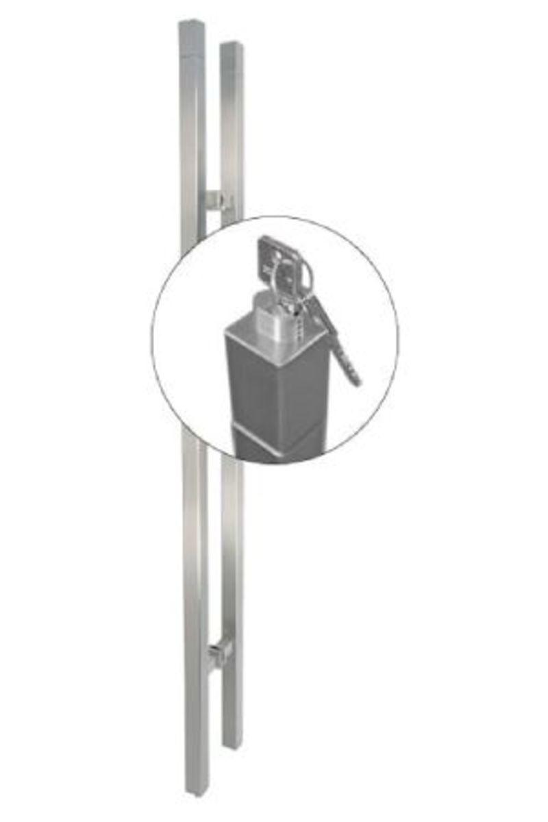TG.1150.S.AK Stiletto-Akzent Locking Barn Door Handle