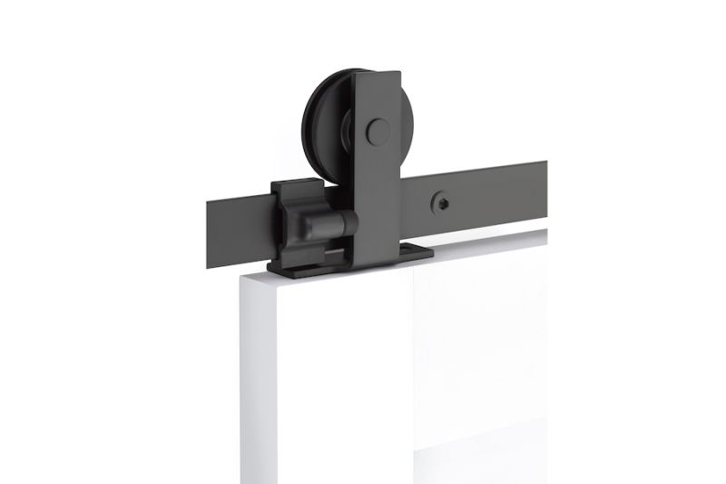 Modern Rectangular Top Mount - Steel - by Emtek