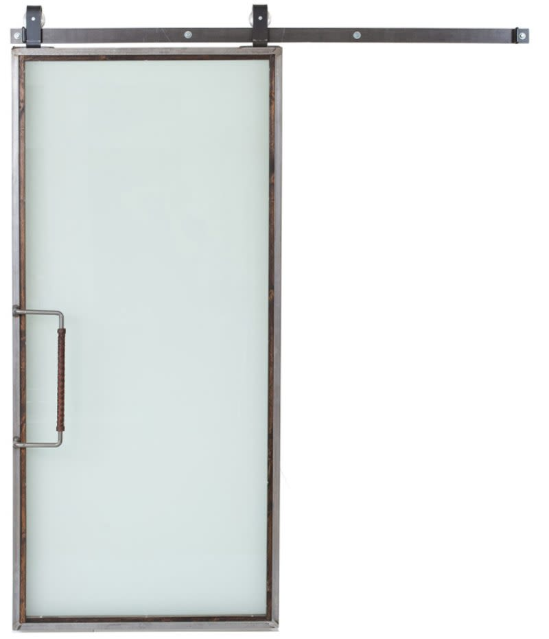 Powell Frosted Glass Barn Door