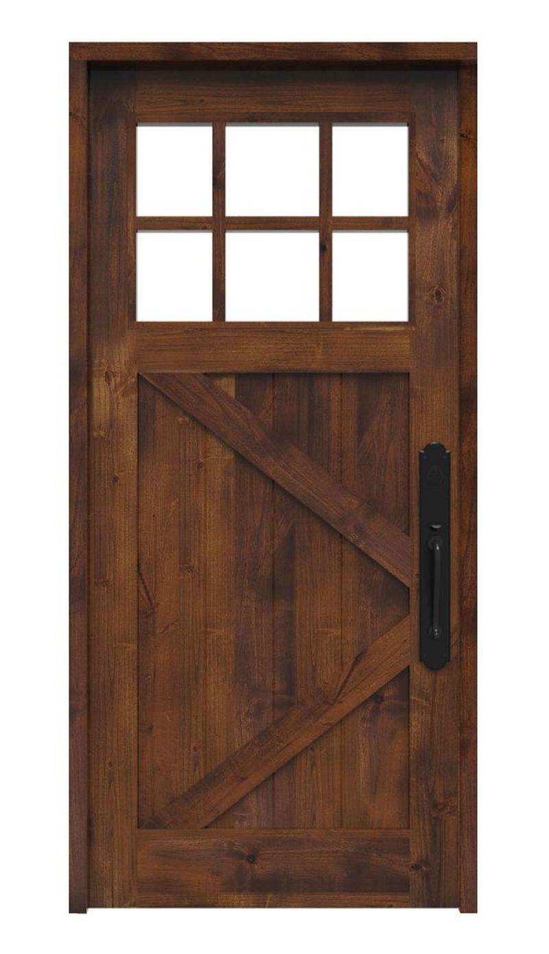 Shoemaker Front Door with 6 Lites