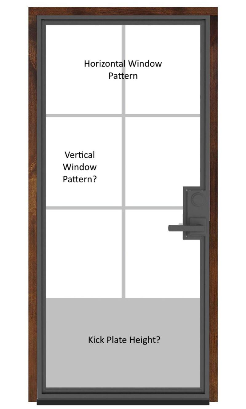 Customizable Metal Wine Room Door