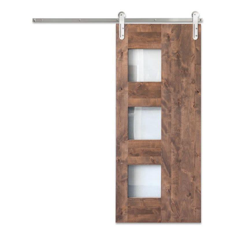 Midcentury 3 Panel Barn Door