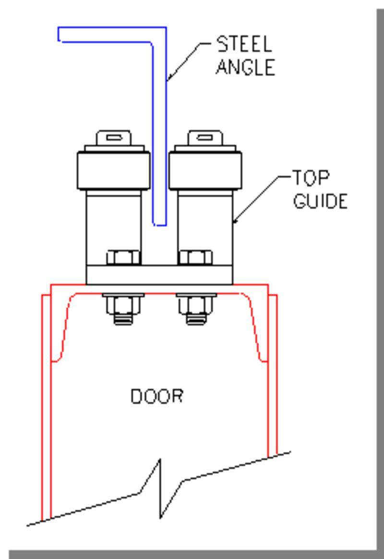 Hangar Door Single Angle Top Guide