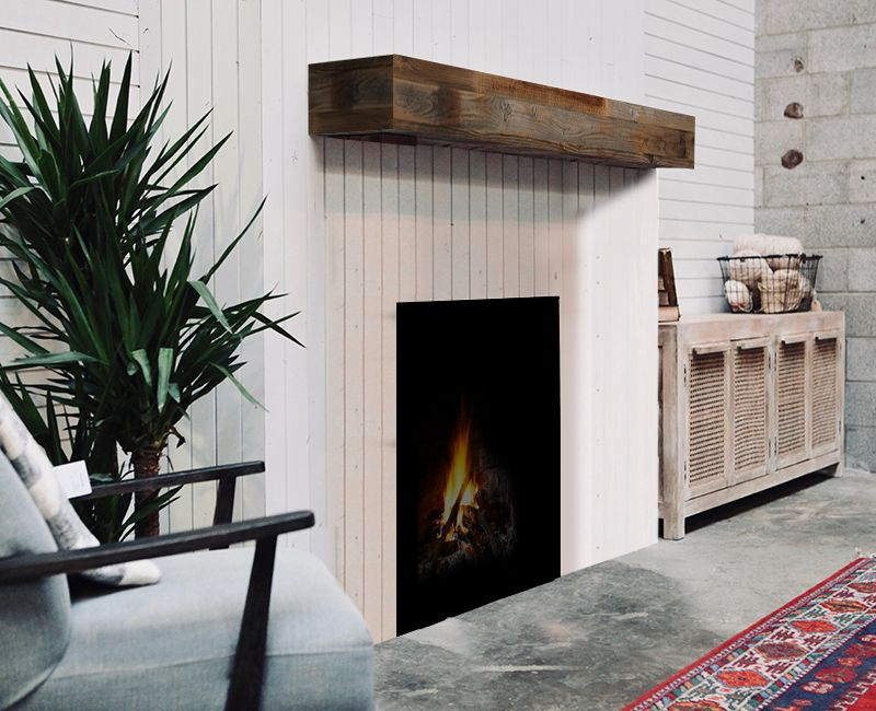 Open Range Fireplace Mantel
