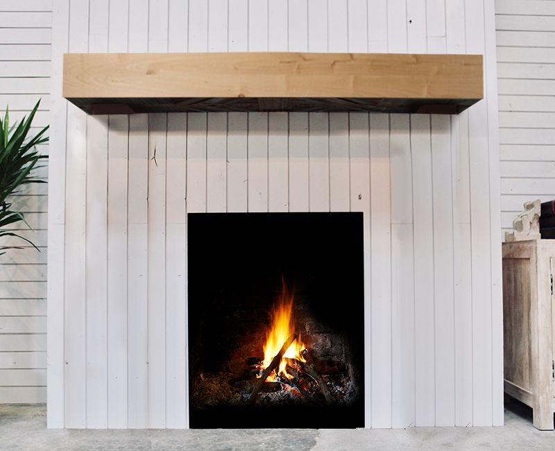 Unfinished Fireplace Mantel