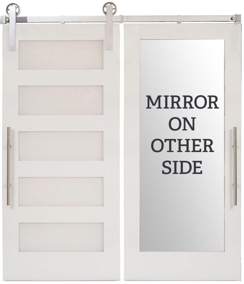 5 Panel Mirror Barn Door