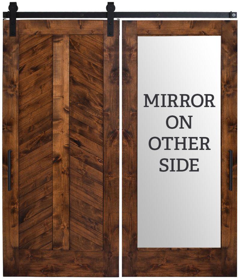 Heartland Chevron Mirror Barn Door