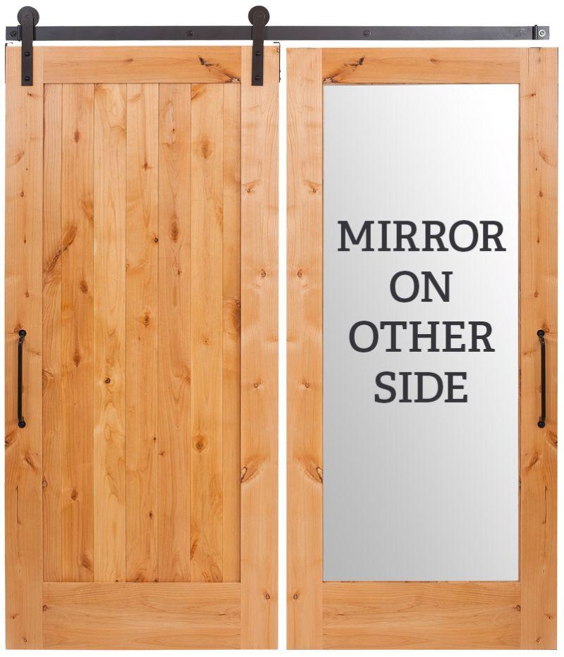Lewiston Vertical Mirror Barn Door