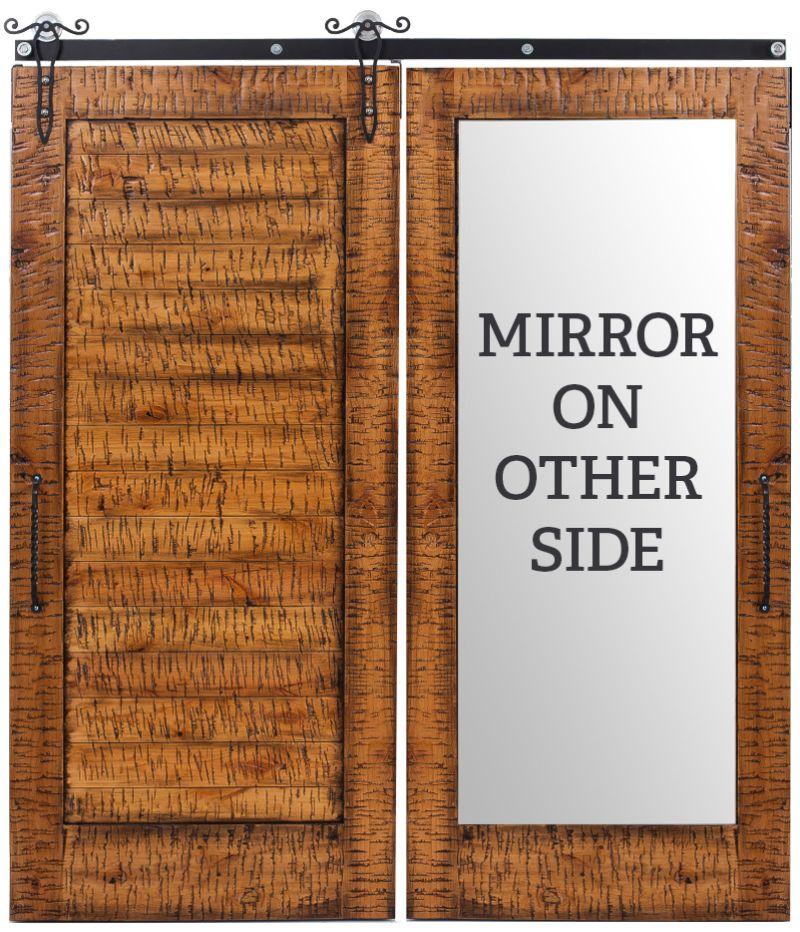 Lewiston Horizontal Mirror Barn Door