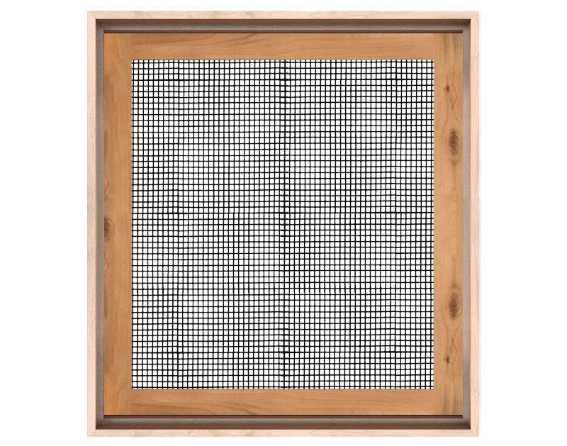 Rustica Wood Window With Metal Grid
