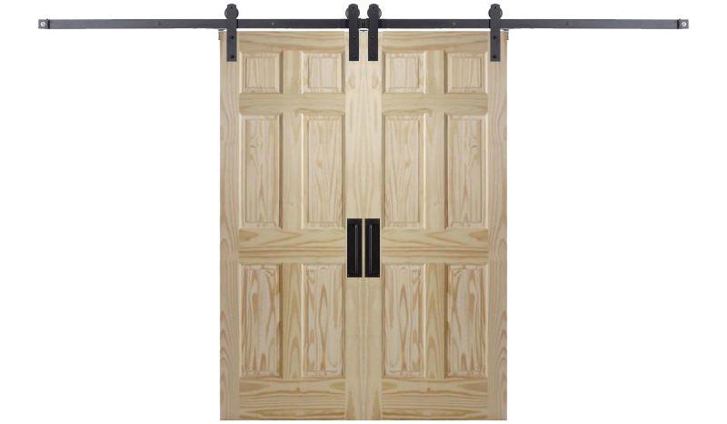 Six Panel Colonial Double Barn Door