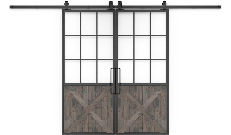 Mountain French Half X Double Barn Door
