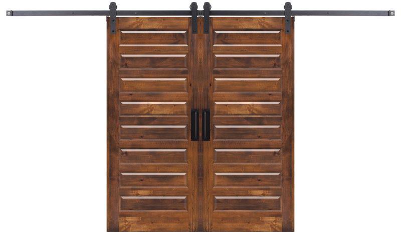 Eight Panel Double Barn Door