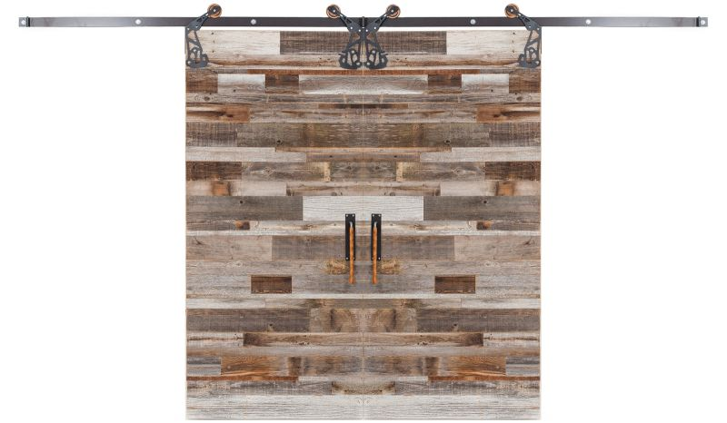 Barn Wood Reclaimed Double Barn Door