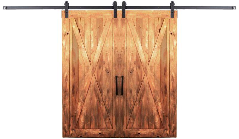 Outdoor Rated Double Barn Door