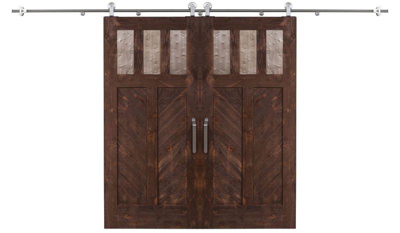 Chevron Double Barn Door
