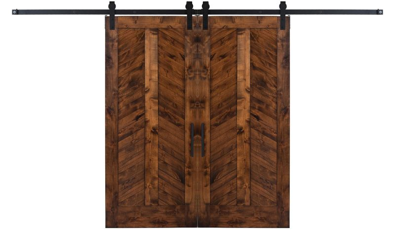 Heartland Chevron Double Barn Door