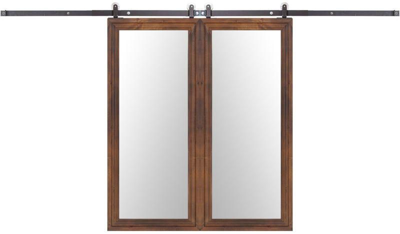Decorative Wooden Mirror Double Barn Door