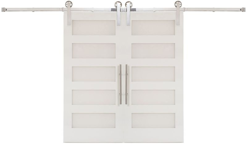 Five Panel Double Barn Door