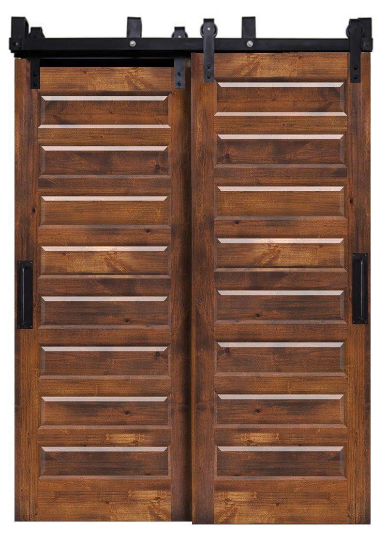 Eight Panel Bypassing Barn Doors