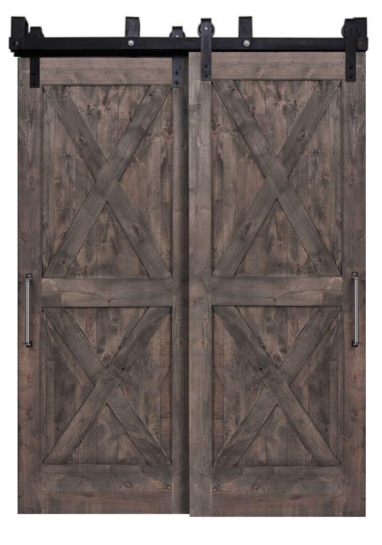 Double X Bypassing Barn Doors