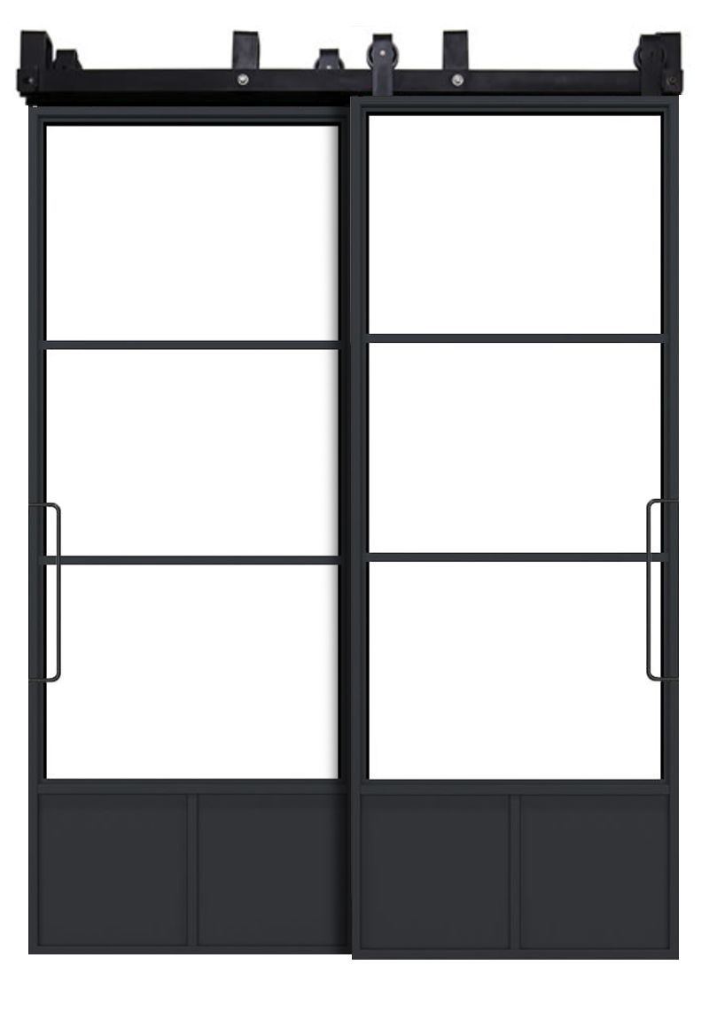 Traditional French Bypassing Barn Doors