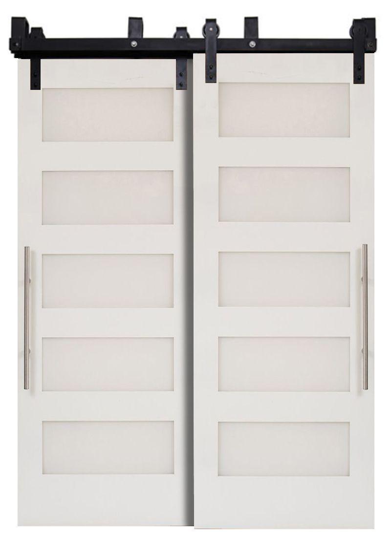 Five Panel Bypassing Barn Doors