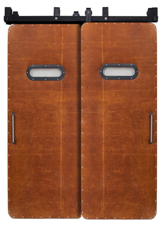 Leather Modern Range Bypassing Barn Doors