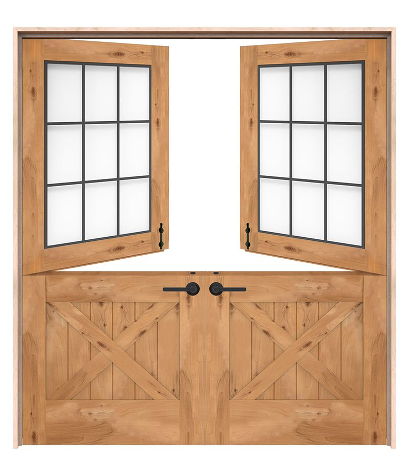 Exterior Farmhouse X Double Dutch Doors
