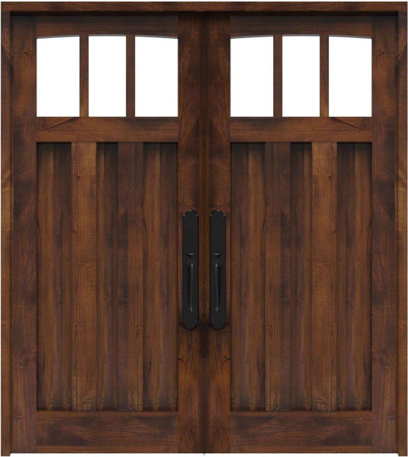 Woodsman Double Front Door