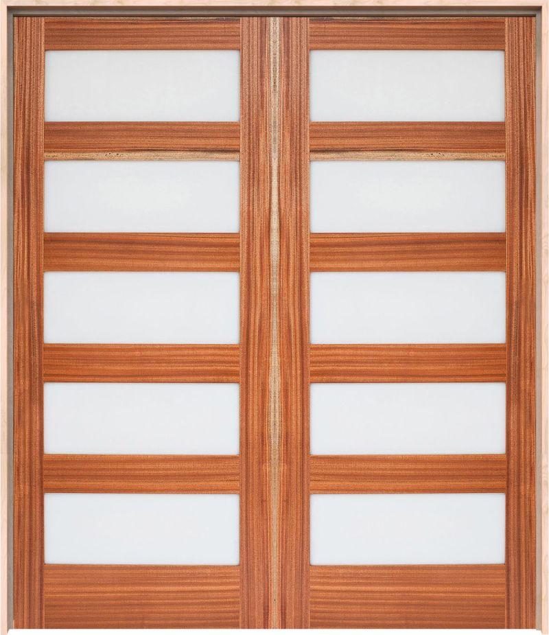 5 Panel Interior Double Door