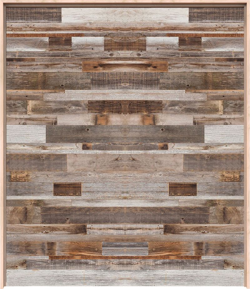 Horizontal Barn Wood Interior Double Door