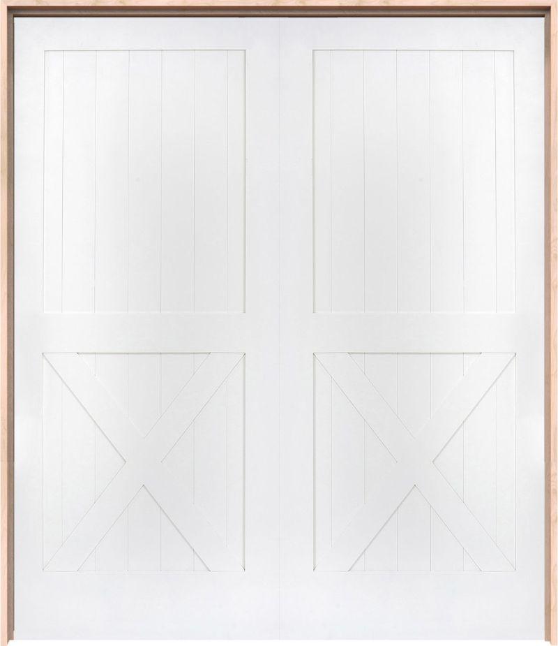 Half X Interior Double Door