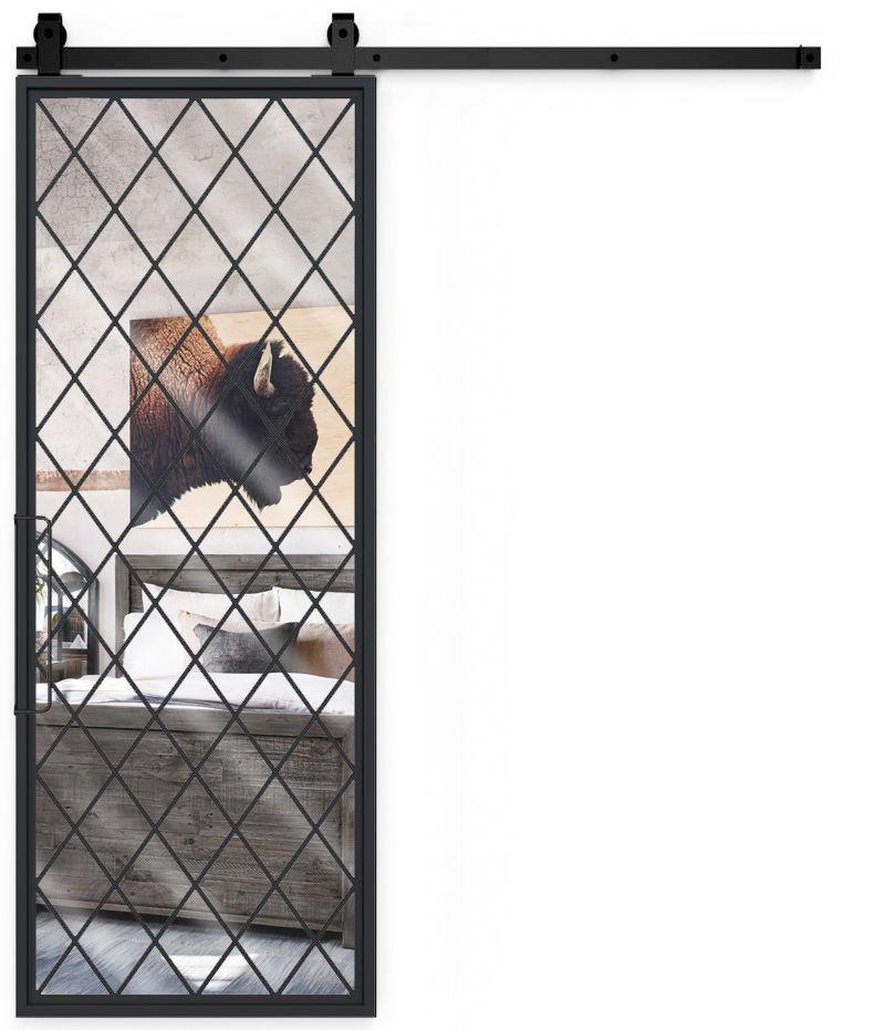 Chateaux Mirror Barn Door