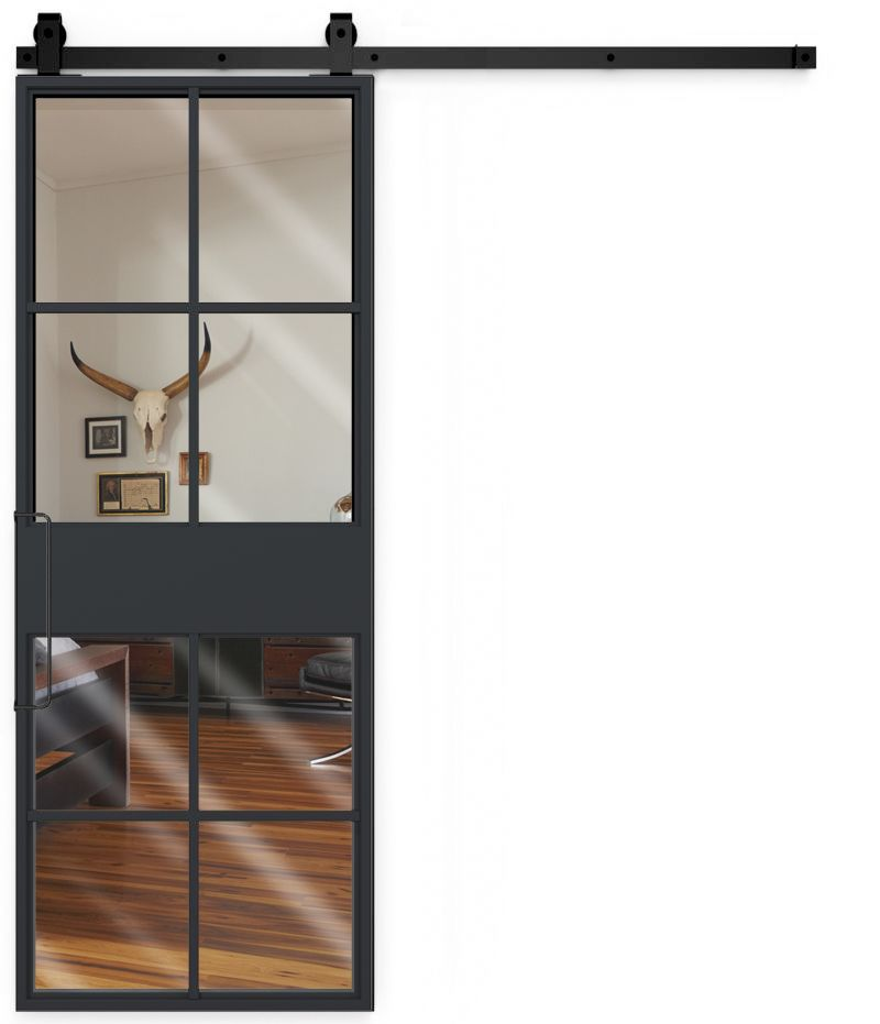 French Terrace Mirror Barn Door