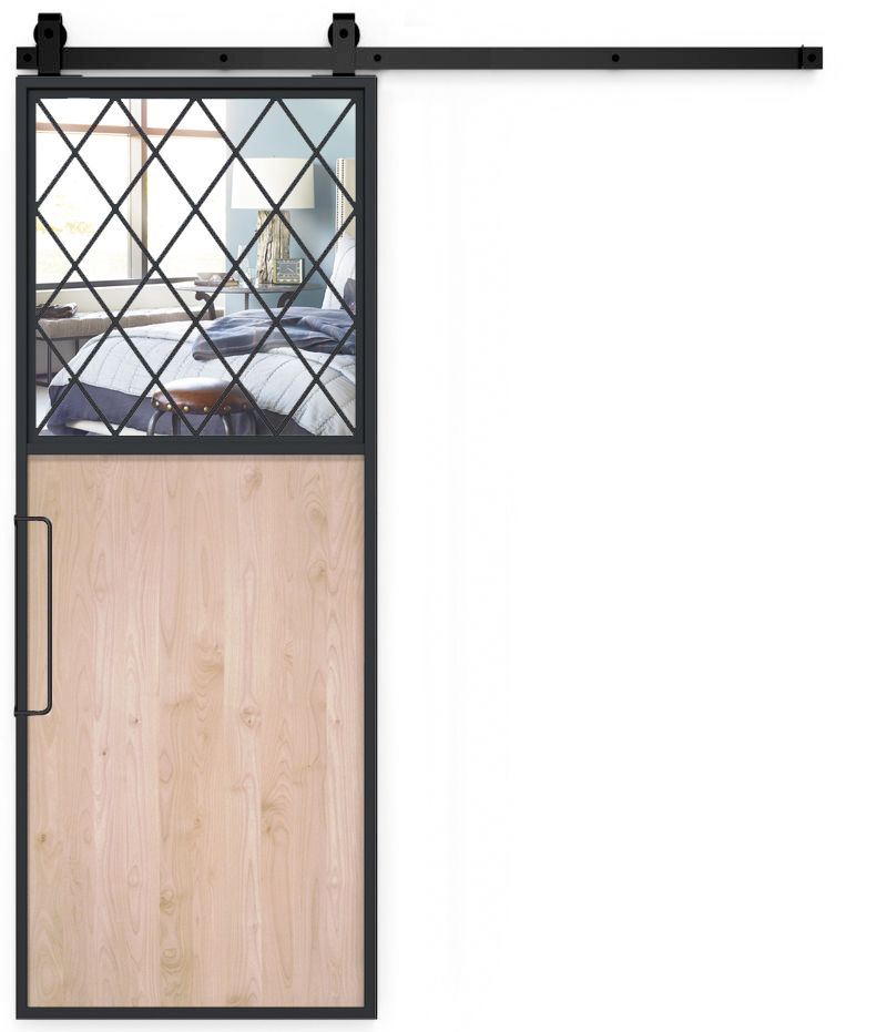 French Farm Mirror Barn Door