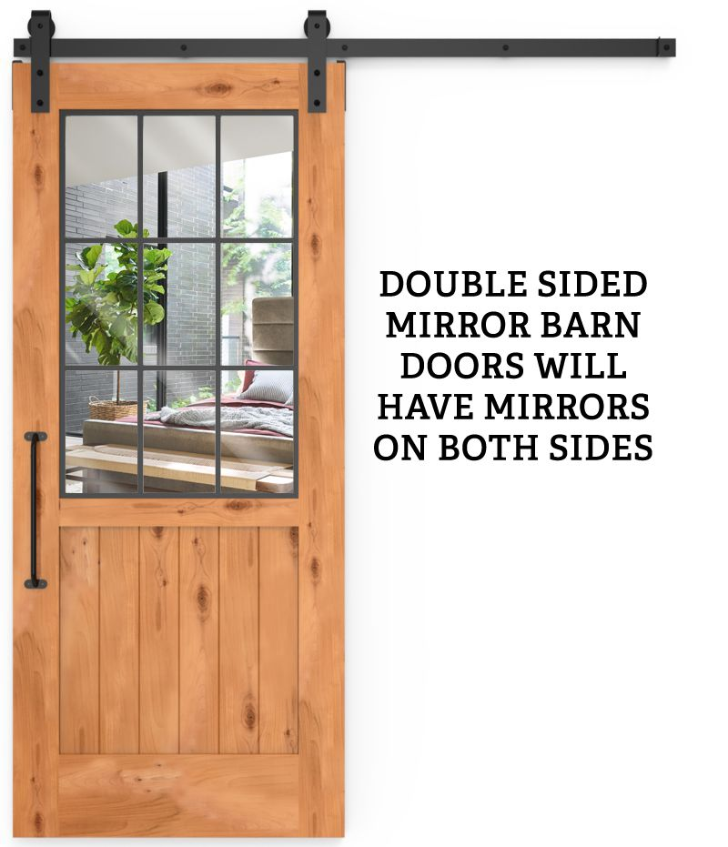 Farmhouse French Half Double Mirror