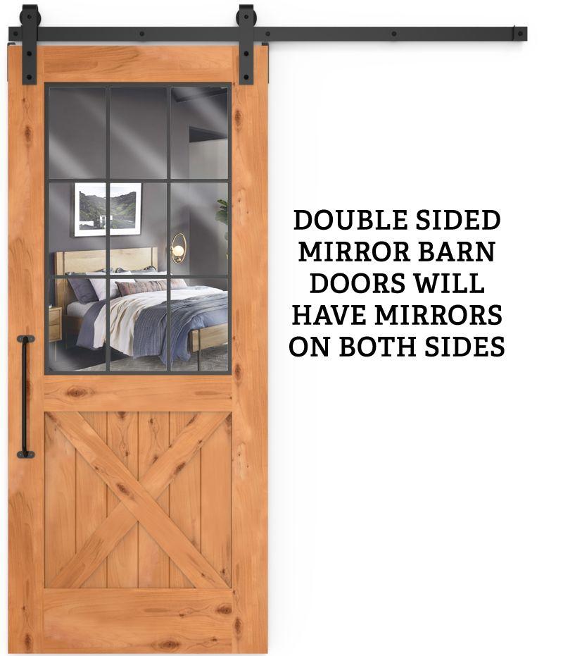 Farmhouse French Half X Double Mirror