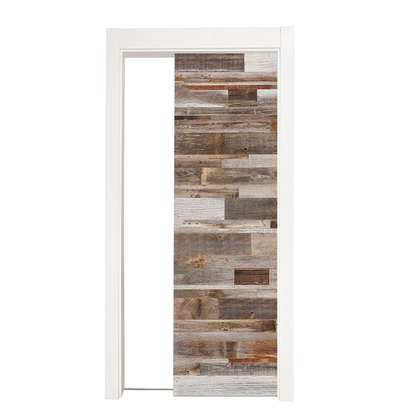 Barn Wood Reclaimed Single Pocket Door