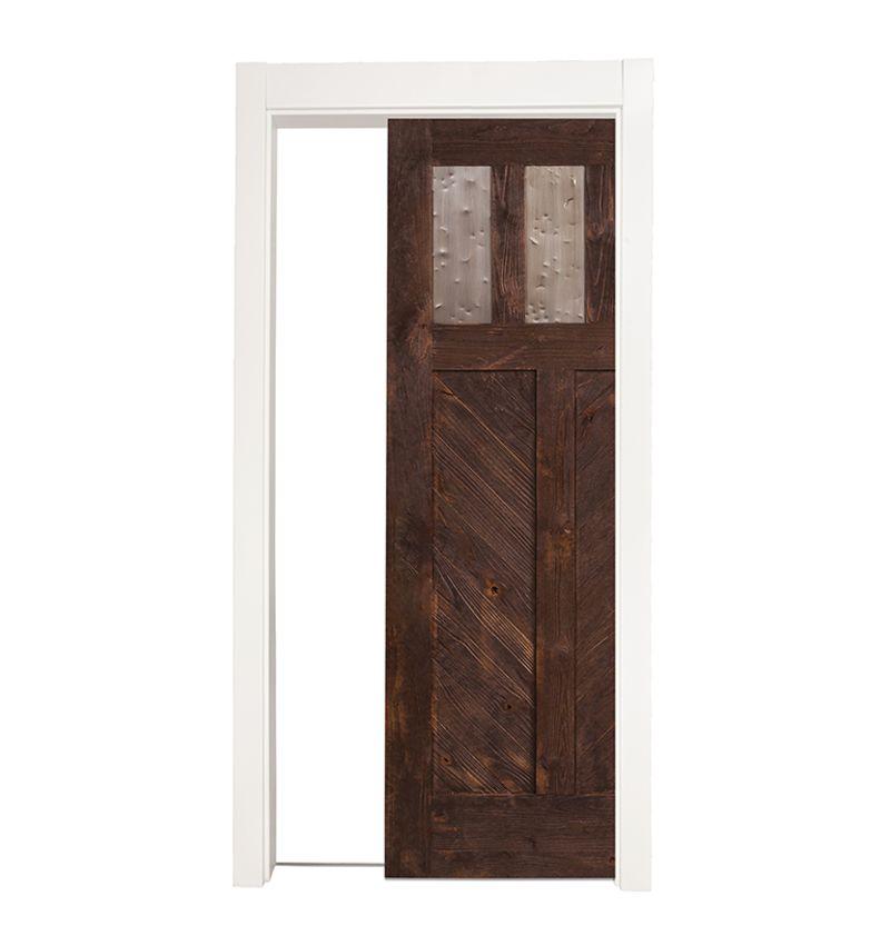 Chevron Single Pocket Door