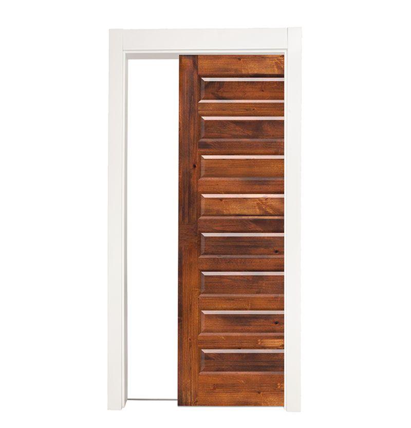 8 Panel Single Pocket Door