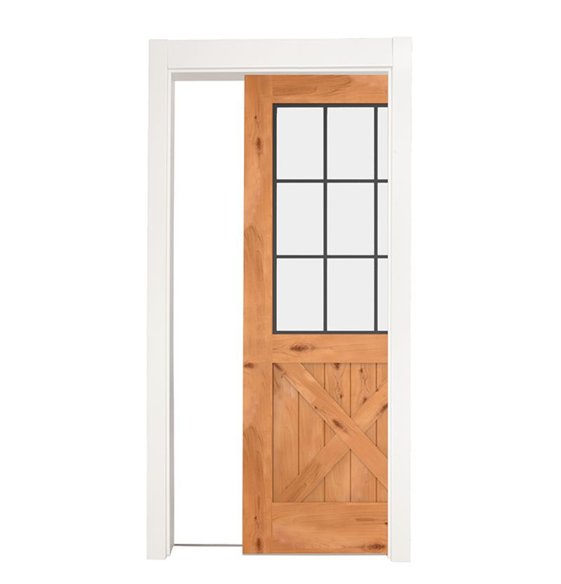 Farmhouse French Half X Single Pocket Door