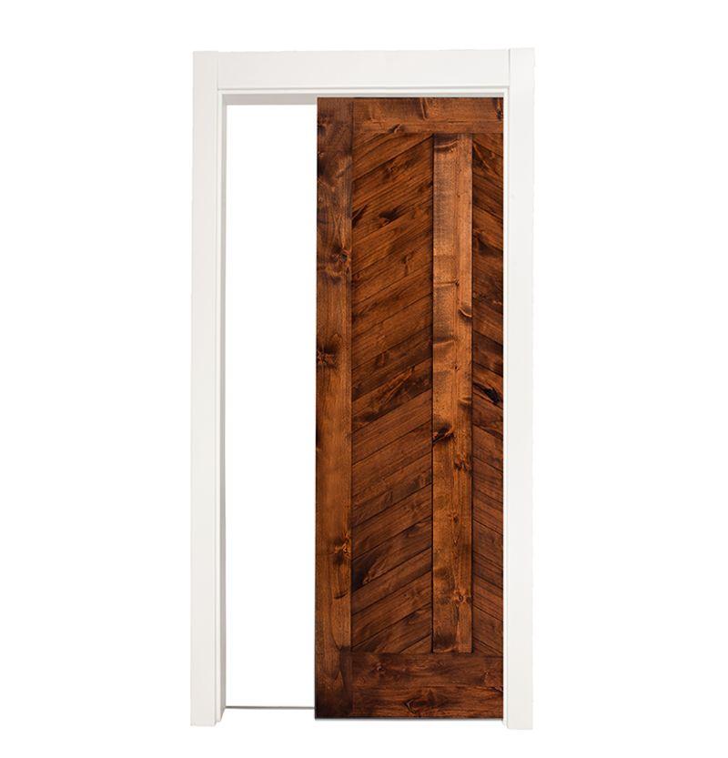 Heartland Chevron Single Pocket Door