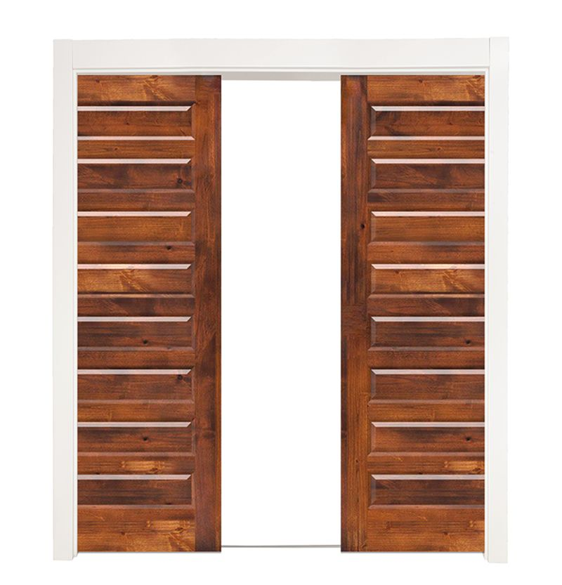 8 Panel Double Converging Pocket Doors
